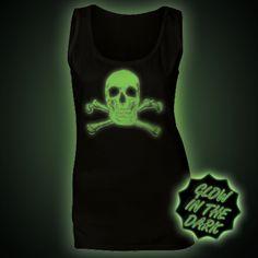 Glow in the Dark Women's Tops & Vests - Glow Clothing Ethical Clothing, Vests, The Darkest, Women's Tops, Glow, T Shirt, Clothes, Fashion, Ethical Fashion