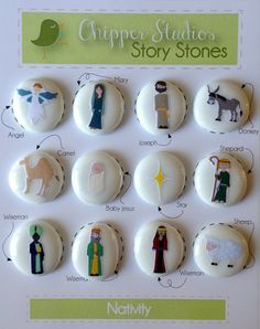 Nativity Story Stones-a great ccd gift for kids in your class