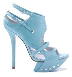 Camilla Skovgaard Baby Blue Platform Sandal Spring Summer 2011 #Shoes #Heels