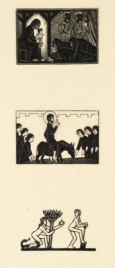 Eric Gill. 'Epiphany, Palm Sunday, and Adam & Eve', date not known