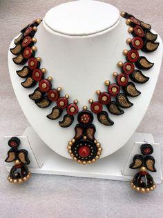 Mangrove designer wear #terracotta #necklaceset with 40% discount at #craftshopsindia