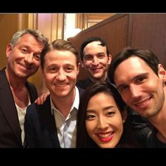 Backstage selfie at the #Gotham press conference with the boys, and our gorgeous host, @sumire808. #Tokyo
