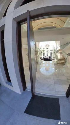 Home Building Design, Home Room Design, Dream Home Design, Bathroom Interior Design, Modern Mansion Interior, Modern Exterior House Designs, Unique House Design, Narrow House Designs, Luxury Homes Dream Houses