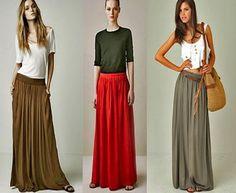 Vestidos y faldas largas - Modadictas