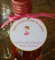 50 - Baby Shower Thank You Custom Favor Tags - tutu sweet of you to come! - for Mini Wine or Champagne Bottles - Mason Jar Gifts Mason Jar Gifts, Mason Jars, Baby Tutu Dresses, Baby Shower Thank You, Champagne Bottles, Party Favor Tags, 2nd Birthday, Bridal Shower, Favors