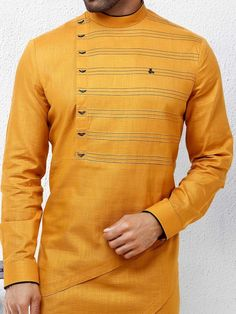 Bright yellow hue festive wear kurta suit com is part of Men shirt style - Shop Bright yellow hue festive wear kurta suit online from India Brand Product code Price Color Yellow, Fabric Cotton, African Wear Styles For Men, African Dresses Men, African Clothing For Men, Mens Clothing Styles, Nigerian Men Fashion, Indian Men Fashion, Big Men Fashion, Kurta Pajama Men, Kurta Men