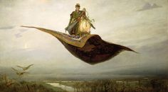 The Magic Carpet Painting  - The Magic Carpet Fine Art Print   Apolliunari Mikhallovich Vesnetov