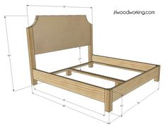 King Size Bed Frame Diy Do It Yourself Master Bedrooms