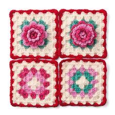 カラフルな糸であそぶ約5時間英国紅茶を飲みながら編みたい、可憐に咲き誇るお花モチーフ。|イングリッシュガーデンのお花たち かぎ針編みのカラフルモチーフブランケットの会