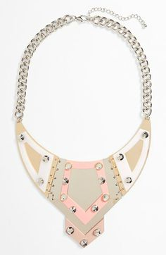 Leith Geo Bib Necklace available at #Nordstrom