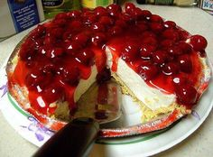 No Bake-Easy to Make Cherry Cheese Cake ... This is the BEST no-bake cheesecake you will ever eat...I guarantee it!! I've been making it for many years!! ♥