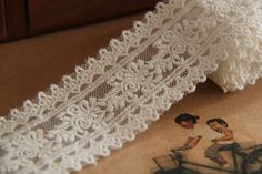 2 yards  4cm Lace Trim Embroiery Lace Ribbon by LaceDecoration