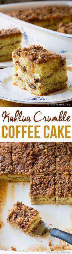 Tender Boozy Kahlua Coffee Cake Recipe   ASpicyPerspective.com