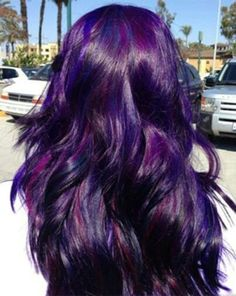 DIY Hair: 10 Purple Hair Color Ideas Can't decide which shade of purple to dye? Check out this list of 10 shades, including Manic Panic, Joico, and Pravana's violet hair dyes! Love Hair, Gorgeous Hair, Coiffure Hair, Hair Color Purple, Dark Purple, Deep Purple Hair, Bright Purple, Purple Dye, Bright Hair