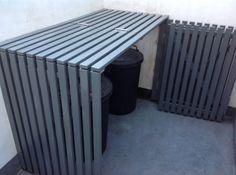 Le rangement poubelle/recyclage sur le côté de l'Italienne - possibilité #1