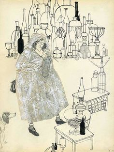antique market by Victoria Semykina, via Behance Illustration Sketches, Illustrations, Character Illustration, Botanical Illustration, Art Sketches, The Art Of Storytelling, Matchbox Art, Antique Market, Poster
