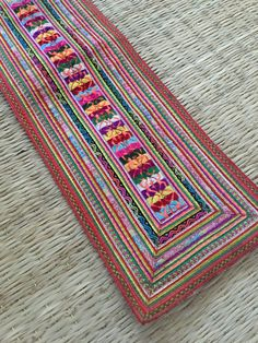 Vintage Hmong Fabric hill tribe Hand by moonshinecotton on Etsy #teampinterest