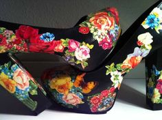 Decoupage shoes: photo Swedish designer Anna Lindström