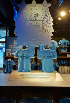 NIKE MANCHESTER CITY | Retail Interior at Etihad Stadium, September 2015 by Millington Associates. See more here: http://www.millingtonassociates.com/p…/nike-manchester-city/ #retaildisplay #millingtonassociates #nike #windowdisplays #retailinterior