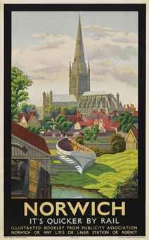 Details about Norwich Print Norfolk Travel Poster Wall Art Print - asiatischerezepte Train Posters, Railway Posters, Art Nouveau Poster, Tourism Poster, Vintage Art Prints, Vintage Travel Posters, Poster Vintage, Poster Wall, Wall Art Prints