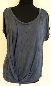 Cute nice dark blue gray layered blouse top shirt by Old Navy sz M