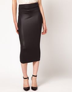 River Island Wet Look Tube Skirt $31.04 (Oh fuck yes. I love this.)