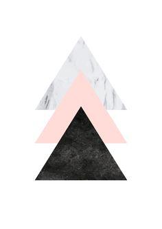 Poster Marble Triangles Rosé - Comprar em Strüdel Poster geométrico com nuances de mármore e rosé. <3 Estilo escandinavo / nórdico. Decoração. Design. Estilo. <3
