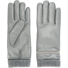 Fabiana Filippi stud embellished gloves (19.405 RUB) ❤ liked on Polyvore featuring accessories, gloves, grey, leather gloves, studded leather gloves, grey gloves, gray leather gloves and grey leather gloves