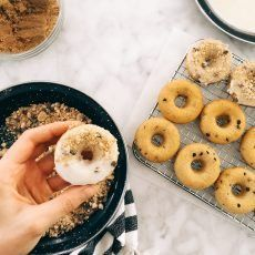 Mini Chocolate Chip Cookie Baked Donuts | Joy the Baker