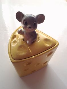 Super Cute and Kitsch Vintage Ceramic Mouse by EclecticCollecting, £12.00