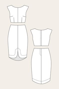 Vanamo Two-Piece Cocktail Dress, Named Patterns