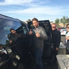 Gerard Butler arriving at Camp Pendleton for a special screening of London has Fallen for our soliders
