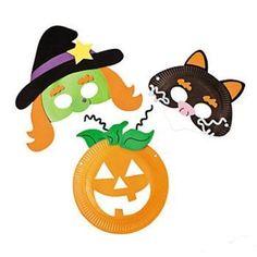 Maschere di Halloween con piatti di carta fai da te