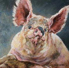 """Pig poseur "" - Lucy Turmaine"
