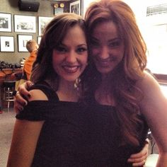 Laura Osnes & Sierra Boggess. MY TWO FAVORITE PEOPLE EVER..... Two much beauty in one picture.
