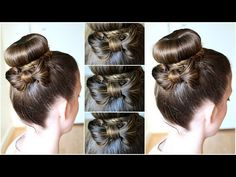 DIY Hair Bow  Bun Updo | Braidsandstyles12 - YouTube