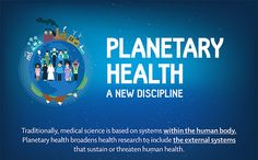 An infographic explains what the new discipline of Planetary Health is