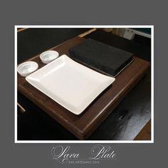 Walnut Lava Steak Plate by EAR ARTESANO www.earartesano.com