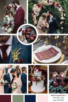 Pretty Palette: Marsala, Sage, Navy and Blush Wedding Colour Scheme | Flourish & Lace