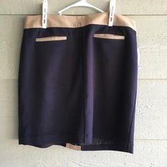 18 Navy Tan Pencil Skirt – Sharel's Secret Closet