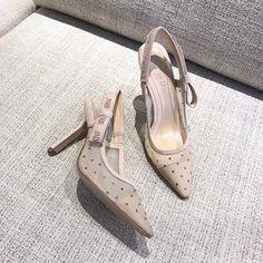 Dior slingback technical mesh sandals Dior Shoes, Mesh, Sandals, Heels, Fashion, Heel, Moda, Shoes Sandals, Fashion Styles