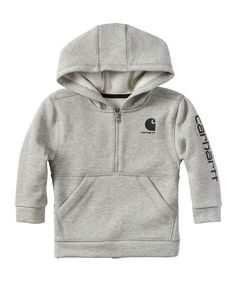 044fc5542 Take a look at this Heather Gray Logo Half-Zip Hoodie - Toddler today!