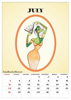 This is a homemade calendar that I created following in the style that I love to draw in