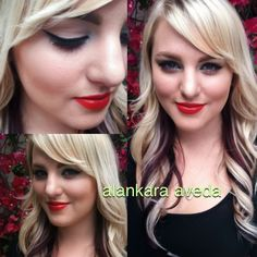 A classic look using all Aveda makeup