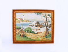 Mid Century Paint By Numbers Framed Art by cheerfulowl on Etsy, $42.00