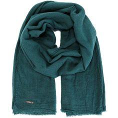 Faliero Sarti New Alexander Scarf featuring polyvore, fashion, accessories, scarves, green, faliero sarti, faliero sarti scarves, green shawl and green scarves
