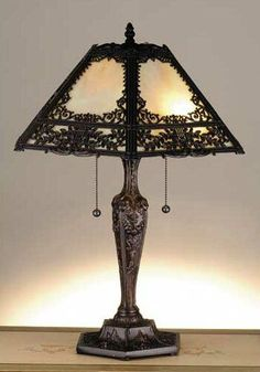 Victorian era lights are known for floral imagery and ornate lampshades with hanging tassels. Description from victorian-era.org. I searched for this on bing.com/images