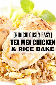 If you're looking for quick and easy dinner recipes the whole family will love, check out this [ridiculously easy] Tex Mex Chicken and Rice Bake. With only 10 minutes of prep time and 45 minutes in the oven, it's the perfect meal for those lazy winter days when you aren't organized enough to put your crockpot to use! #CookWithCampbell