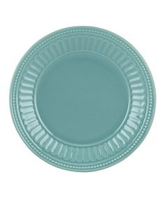 Look what I found on #zulily! Bluebell French Perle Groove Plate #zulilyfinds