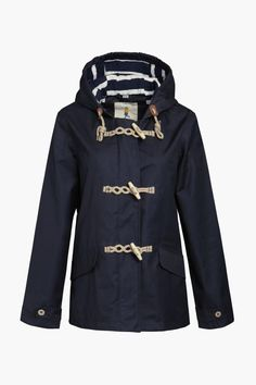 Inspired by a traditional fisherman's mac, they have given the design a feminine twist and made it with their famous Tin Cloth® material. Waterproof, windproof and breathable raincoat, with toggle and rope fastening, deep pockets, generous hood, and the softest cotton jersey body and hood lining. Classic nautical styling for rainy days. Sizes are UK. UK Size 4 = US 1; UK 6 = US 2; UK 8 = US 4; UK 10 = US 6; UK 12 = US 8; UK 14 = US 10; UK 16 = 12; UK 18 = US 14; UK 20 = US 16; UK 22 = US 18…
